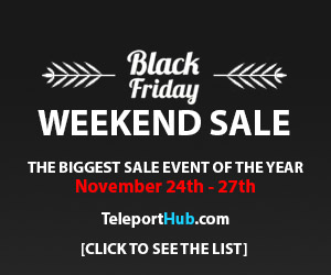Teleport Hub Black Friday Weekend Sale 2017