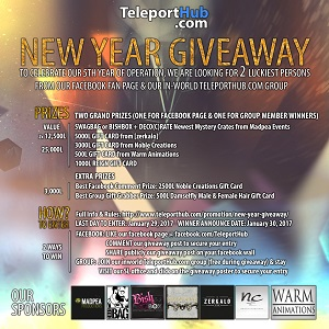 Teleport Hub New Year Giveaway