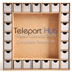 Teleport Hub's Complete List of Advent Calendar 2015 Second Life