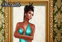 Michelle Turchese Gown December Group Gift by Ydea - Teleport Hub - teleporthub.com