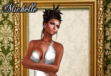 Michelle White Gown December Group Gift by Ydea - Teleport Hub - teleporthub.com