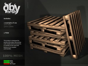 Mesh Pallets by DBy Mesh (Free for Limited Time) - Teleport Hub - teleporthub.com