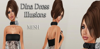 Dina Mesh Dress Group Gift by Mohna Lisa Couture - teleporthub.com