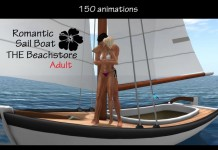 Sailable Sailboat 150 animations with Lovescene by The Beach Store - Teleport Hub - teleporthub.com