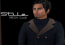 Stile Mesh PeaCoat Navy Group Gift by Rispetto Designs - Teleport Hub - teleporthub.com