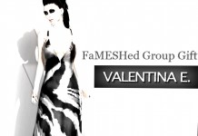 Long Zebra Print Mesh Dress Group Gift by FaMESHED - Teleport Hub - teleporthub.com
