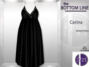 Carina Black Dress by The Bottom Line - Teleport Hub - teleporthub.com