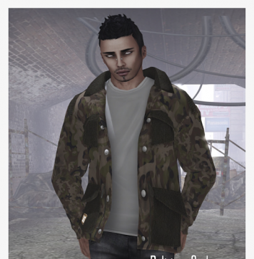 Camo Jacket White T-Shirt with Jean Feb '13 Group Gift by Delirium Style - Teleport Hub - teleporthub.com