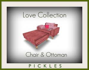 Love Collection Chair & Ottoman by *PICKLES* - Teleport Hub - teleporthub.com