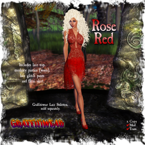 Rose Red Dress Group Gift by Graffitiwear -  Teleport Hub - teleporthub.com