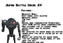 Super Battle Droid Avatar by CC Factory - Teleport Hub - teleporthub.com