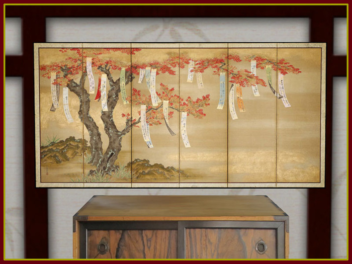 Blueprint Interior Design Painting autumn maple painting japanese mural artre blueprint designs