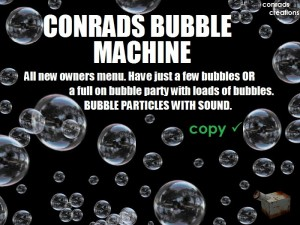 Bubble Machine by Conrads Creations - Teleport Hub - teleporthub.com