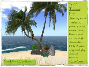 Beautiful Tropical Palm Arrangement by Ya's Dream Creations - Teleport Hub - teleporthub.com