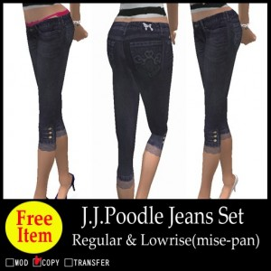 J.J.Poodle Jeans Set by Tisphone Sella - Teleport Hub - teleporthub.com