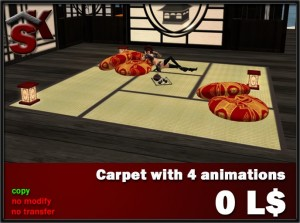 Japan Carpet by SK Prefabs Creations - Teleport Hub - teleporthub.com