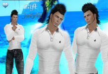 Male White T-Shirt and Jean Group Gift by JStyle - Teleport Hub - teleporthub.com