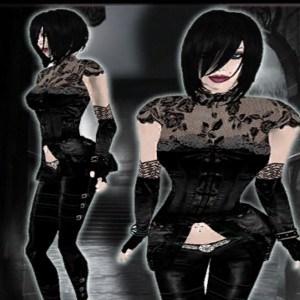 Gothic Clothing Silk Rose Set by L&B - Teleport Hub - teleporthub.com