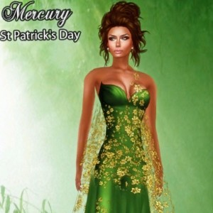 Mercury Green Dress St Patrick's Day Gift by Ydea - Teleport Hub - teleporthub.com