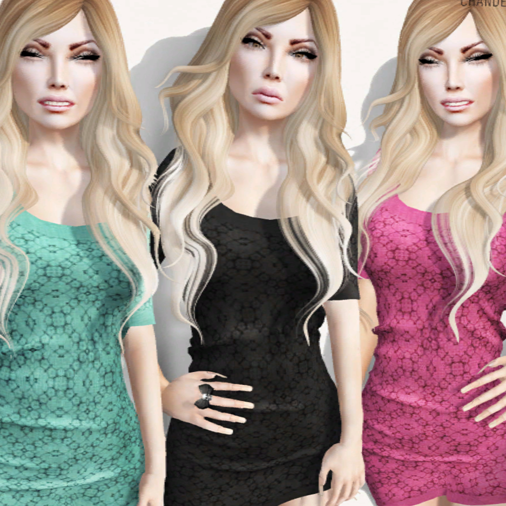 GG#2 Mesh Dress Alex 8 Colors VIP Group Gift by Chandelle Design - Teleport Hub - teleporthub.com