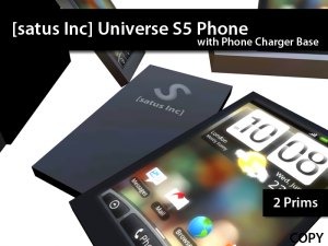 [satus Inc] Universe S5 Phone with Charger Base - Teleport Hub - teleporthub.com