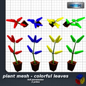Plant Mesh Colorful Leaves by -LEO- - Teleport Hub - teleporthub.com
