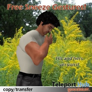 Sneeze Gestures (Male & Female) by goodstuff - Teleport Hub - teleporthub.com