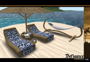 Tiki Tropical Beach Furniture Set by Headhunter's Island - Teleport Hub - teleporthub.com