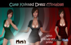 Knitted Tintable Dress by Mimi's Boutique - Teleport Hub - teleporthub.com