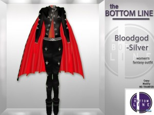 Bloodgod Silver Outfit by the Bottom Line - Teleport Hub - teleporthub.com