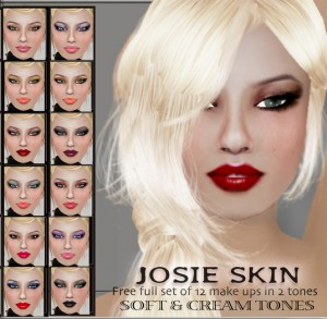 JOSIE Skin Full Set of 12 Make Ups In 2 Tones by TuTy - Teleport Hub - teleporthub.com