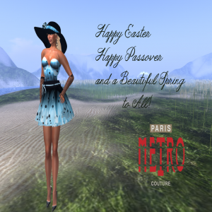 Light Blue Mini Dress Group Gift by Paris METRO Couture - Teleport Hub - teleporthub.com