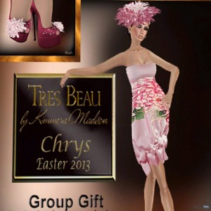 Chrys Dress Easter 2013 Group Gift by Tres Beau - Teleport Hub - teleporthub.com