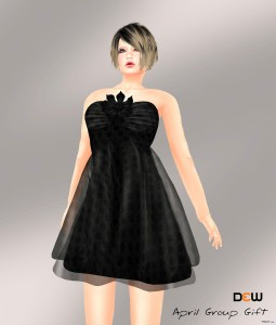 Black Dress April 2013 Group Gift by DEW - Teleport Hub - teleporthub.com