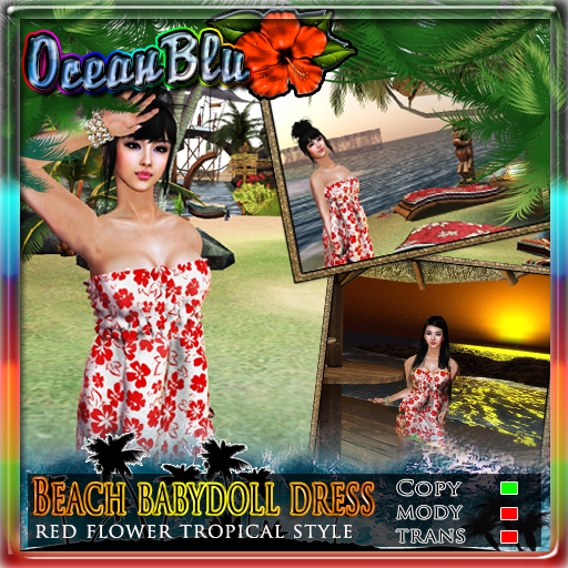 Beach BabyDoll Mesh Dress by OceanBlu - Teleport Hub - teleporthub.com