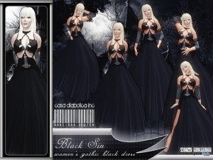 Black Sin Dress by Narcissa Designs - Teleport Hub - teleporthub.com