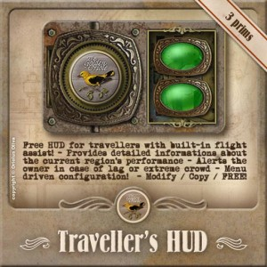 Traveler's HUD - Flight Assist and Lag Meter by The Golden Oriole - Teleport Hub - teleporthub.com
