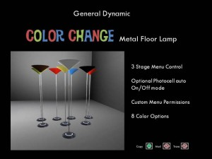 Color Change Metal Floor Lamp by General Dynamic - Teleport Hub - teleporthub.com