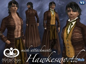 Hawkesworth Brown Outfit with Mesh Attachments by BlakOpal Designs - Teleport Hub - teleporthub.com