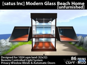 [satus Inc] Modern Glass Beach House [unfurnished] - Teleport Hub - teleporthub.com