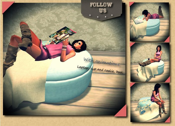 Relax Winter Pouff - Pillow by Follow Us (10L) - Teleport Hub - teleporthub.com