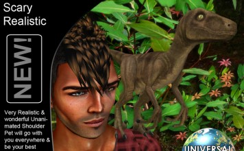 Mesh Realistic Dinosaur Shoulder Pet Limited Time Promo by Universal Creativity - Teleport Hub - teleporthub.com