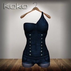 Realizm Denim Short Jumpsuit by Koko - Teleport Hub - teleporthub.com