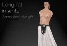 Long-kilt In White Zehshi Exclusive Gift by A:S:S - Teleport Hub - teleporthub.com