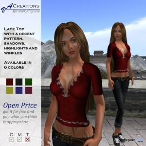 Lace Top by VA Creations - Teleport Hub - teleporthub.com