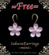 Sakura Earrings by Miroku - Teleport Hub - teleporthub.com