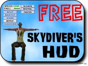SOAR Free Skydiver's HUD by BOOVILLE SKYDIVING -  Teleport Hub - teleporthub.com