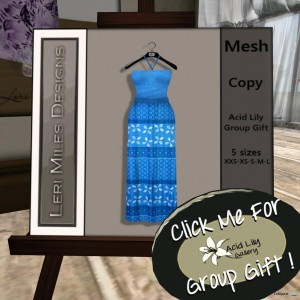 Blue Dress Group Gift by Acid Lily - Telepport Hub - teleporthub.com