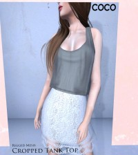 Cropped Tank Top by Coco Designs - Teleport Hub - teleporthub.com