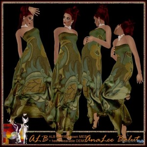 Mesh Cariba Gown and HUD Heels by AnaLee Balut - Teleport Hub - teleporthub.com